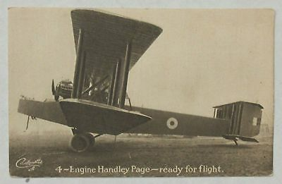 4-Engine Handley Page - ready for flight - Tuck's Postcard