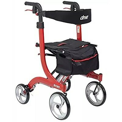 Drive Medical Nitro Rollator Folding Walker Adult 4 Wheels 10266  NEW OPEN BOX