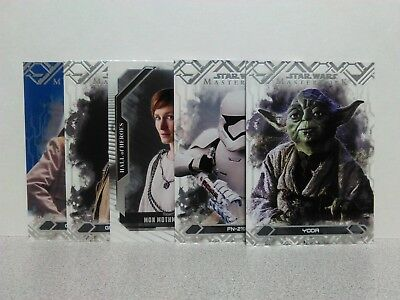 Lot of 10 CARDS + INSERTS! STAR WARS MASTERWORK AUTOGRAPH! NUMBERED! MAUL, YODA