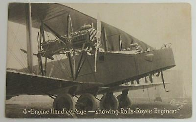 4-Engine Handley Page - showing Rolls-Royce Engines - Tuck's Postcard