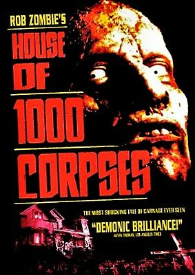 NEW  DVD -  HOUSE of 1000 CORPSES - ROB ZOMBIE - Bill Moseley, Karen Black,