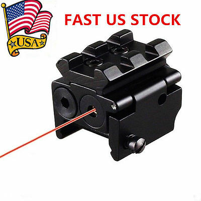 Mini Compact Micro Red Laser Dot Sight Tactical 20mm Rail Mount for Pistol US