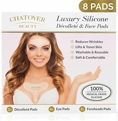 Decollete Anti Wrinkle Chest Pads With Face Patches | 8 Premium Reusable Anti &