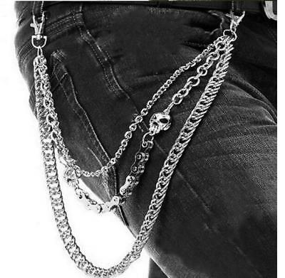 Silver Men Bicycle Chain Wallet Chains Biker Trucker Punk Hiphop Jean Key Chain