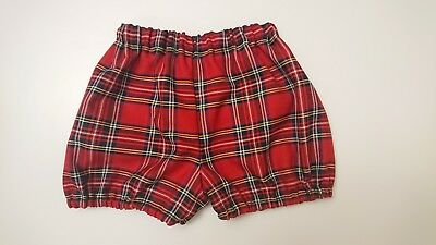 Tartan Print Bloomer Boys baby and Toddler clothes New