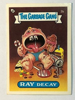 The Garbage Gang Australia Card Sticker Garbage Pail Kids 2B Ray Decay 1985