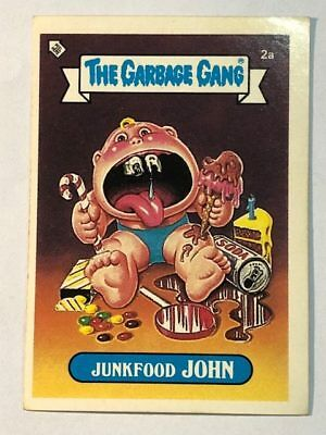 The Garbage Gang Australia Card Sticker Garbage Pail Kids 2A Junkfood John 1985