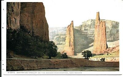 1023 Canyon of Chelley - On Navaho Reservation, NM., DET-FRED HARVEY  Postcard.