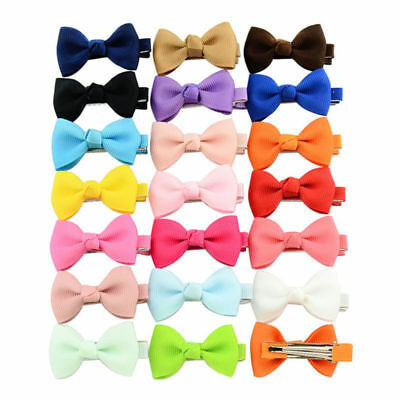 20pcs Girl Small Ribbon Bow Hair Clip Baby Barrette Hairpin Accessories Gift