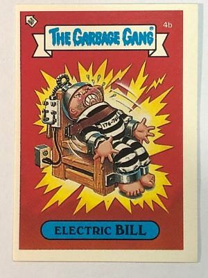 The Garbage Gang Australia Card Sticker Garbage Pail Kids 4b Electric Bill 1985