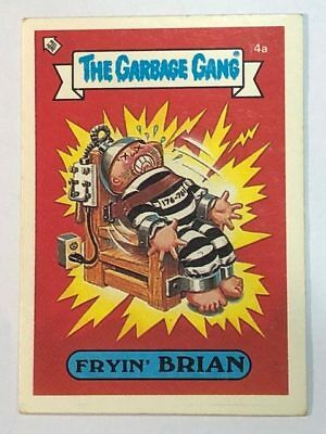 The Garbage Gang Australia Card Sticker Garbage Pail Kids 4a Fryin' Brian 1985