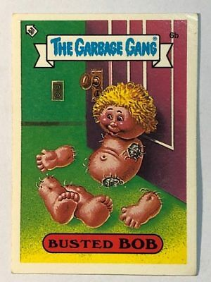 The Garbage Gang Australia Card Sticker Garbage Pail Kids 6b Busted Bob 1985