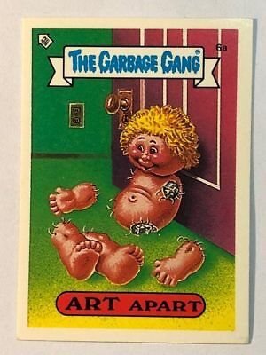 The Garbage Gang Australia Card Sticker Garbage Pail Kids 6a Art Apart 1985