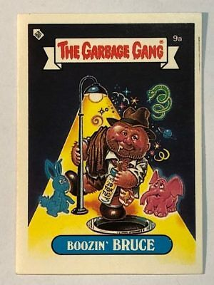 The Garbage Gang Australia Card Sticker Garbage Pail Kids 9a Boozin' Bruce 1985