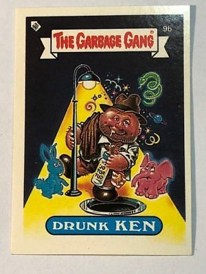 The Garbage Gang Australia Card Sticker Garbage Pail Kids 9a Drunk Ken 1985