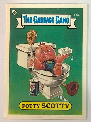 The Garbage Gang Australia Card Sticker Garbage Pail Kids 14a Potty Scotty 1985