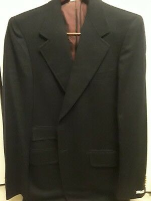 Mens Brioni Black Wool Jacket New With Tags 42R