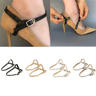 PU Leather Detachable Shoe Straps Band for Holding Loose High Heeled Shoes
