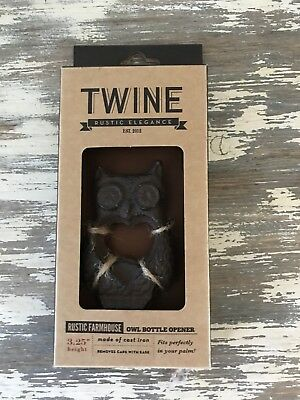 Rustic Farmhouse Cast Iron Owl Bottle Opener by Twine Openers Breweriana Beer