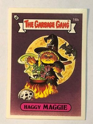 The Garbage Gang Australia Card Sticker Garbage Pail Kids 16b Haggy Maggie 1985
