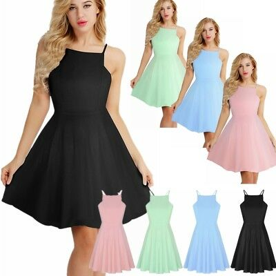 Women Swing Sleeveless A-Line Mini Dress Cocktail Evening Party Wedding Dresses