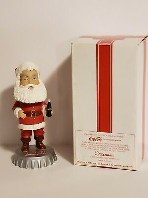 2002 Hardee's Happy Holidays COCA-COLA SANTA CLAUS BOBBLEHEAD