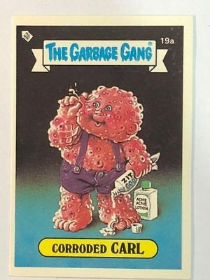 The Garbage Gang Australia Card Sticker Garbage Pail Kids 19a Corroded Carl 1985