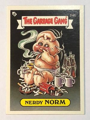 The Garbage Gang Australia Card Sticker Garbage Pail Kids 24b Nerdy Norm 1985