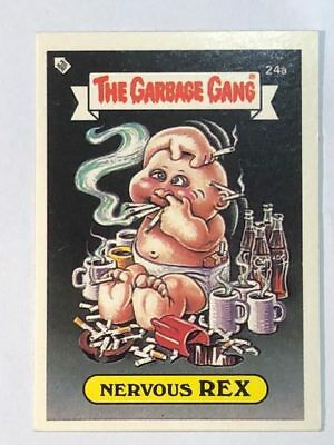 The Garbage Gang Australia Card Sticker Garbage Pail Kids 24a Nervous Rex 1985