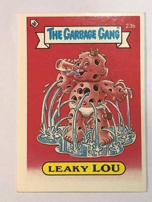 The Garbage Gang Australia Card Sticker Garbage Pail Kids 23b Leaky Lou 1985