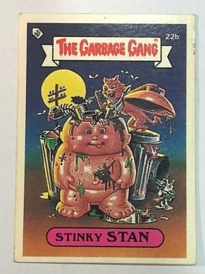 The Garbage Gang Australia Card Sticker Garbage Pail Kids 22b Stinky Stan 1985