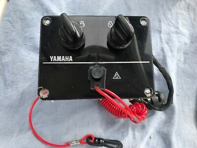 Dual Keys Outboard Key Switch Panel for Yamaha Outboard Ignition Switch Assembly