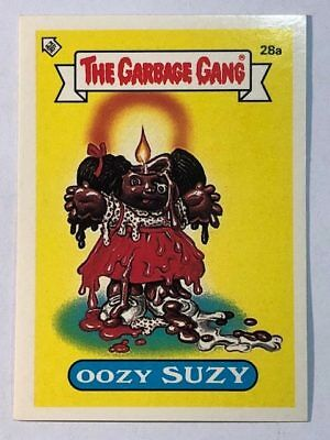 The Garbage Gang Australia Card Sticker Garbage Pail Kids 28a Oozy Suzy 1985