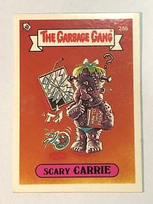 The Garbage Gang Australia Card Sticker Garbage Pail Kids 25b Scary Carrie 1985