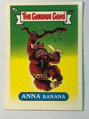 The Garbage Gang Australia Card Sticker Garbage Pail Kids 34b Anna Banana 1985