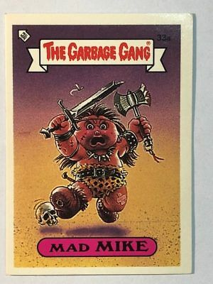The Garbage Gang Australia Card Sticker Garbage Pail Kids 33a Mad Mike 1985