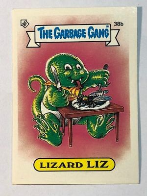 The Garbage Gang Australia Card Sticker Garbage Pail Kids 38b Lizard Liz 1985