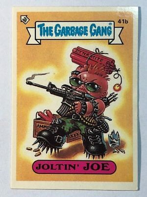 The Garbage Gang Australia Card Sticker Garbage Pail Kids 41b Joltin' Joe 1985