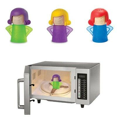 Angry Mama Microwave Cleaner Kitchen Gadget Tool Useful Eco Easily Steam Cleans