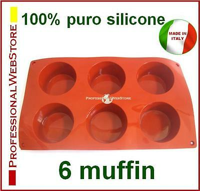 Stampi Stampo In Silicone 6 Muffins Forme Formine Forma Per Muffin Dolce Dolci