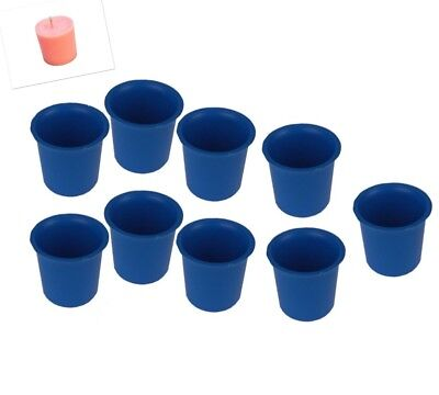 9 x Seamless Votive Candle Making Moulds, UK Made, Rigid Plastic, Craft. S7619