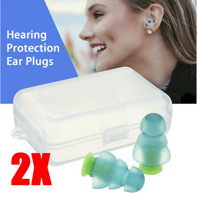 Silicone Earplugs Noise Cancelling Reusable Ear Plugs Hearing Protection + Box