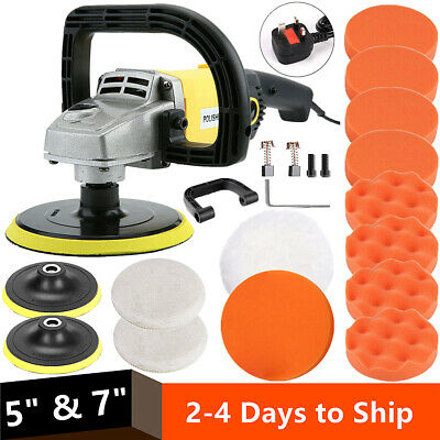 "UK 1200W 7"" Variable 6 Speed Electric Car Polisher Buffer Waxer Sander Home Boat"