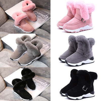 Winter Warm Toddler Kids Boys Girls Snow Boot Fashion Unisex Ankle High Shoes