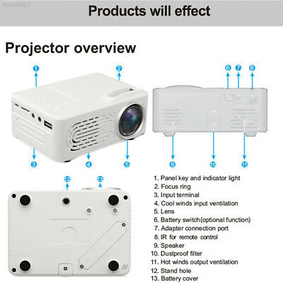 9E01 Mini LED Projector LCD Video Projector LH Outdoor Indoor Office Premium