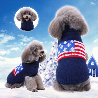 Dog Puppy Outfit Cat Jacket Coat Winter Warm Soft Small Cute Sweater Pet Clothes