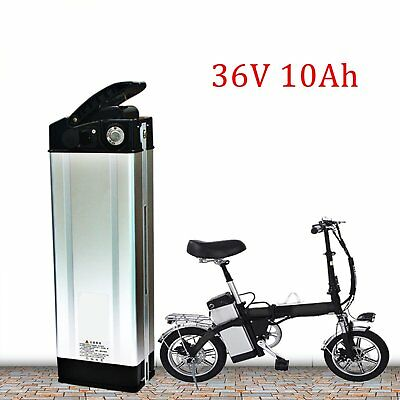 36V 10Ah Lithium Battery w/ Charger for 350W Electric Bicycle Bike E-Bike +2Key~
