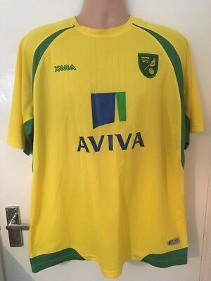 Norwich City Xara 2010-2011 Home Football Shirt EXTRA LARGE XL Jersey Trikot