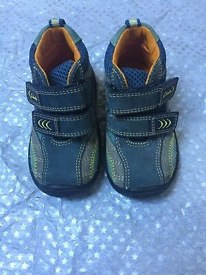 Clarks Size 4f Shoes Baby Boy Worn Once
