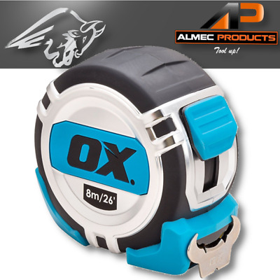 OX 8m Pro Tape Measure Metric/Imperial Heavy Duty Professional Tools | P028708